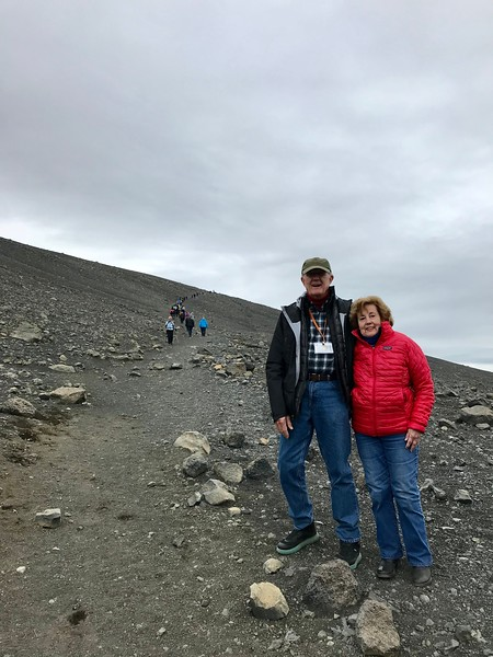 Carl and Mary at Hverfjall crater - Kim Frawley