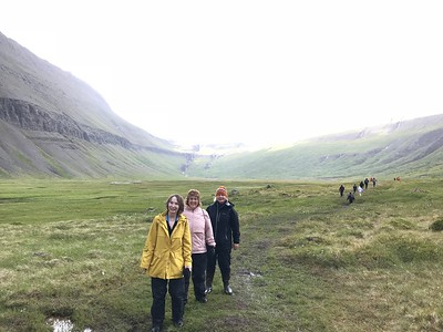 Ladies exploring the Icelandic landscape - Kim Frawley