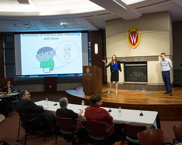 Bayleigh E. Benner (l) and Khoa A. Tran  present on behalf of finalist project Gaining STEAM!