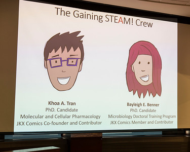 Avatars for Gaining STEAM! group presenters Khoa A. Tran and  Bayleigh E. Benner.