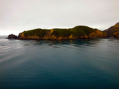 Entering Marlborough Sounds of the South Island