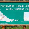 Map of the province of Tierra del Fuego