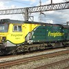 Freightliner Class 70 no. 70011 in the loop at Wembley yard, 26.04.2018.