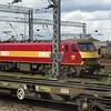 DB Cargo EWS liveried Class 90 no. 90039 at Willesden Yard, 26.04.2018.