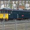 "Caledonian Sleeper Class 86 no. 86401 ""Mons Meg"" (formerly ""Northampton Town"") at Wembley Depot, 26.04.2018."