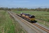 18 April 2018 :: 66177 with just one wagon is at Stenson on 6D44 from Bescot to Toton