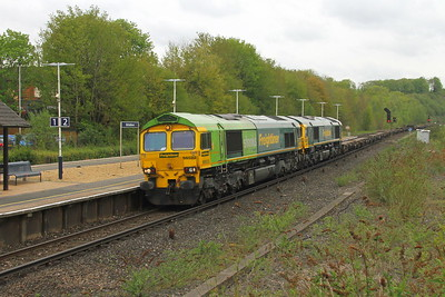 66522 Micheldever 30/04/18 4O14 Crewe Basford Hall to Southampton with 66585