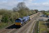 18 April 2018 :: 66304 is seen at Stenson Junction with 6C89 from Mountsorrel to Carlisle