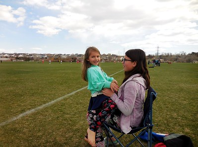 Grandkids and Soccer 2018 April