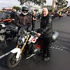 Scott Rueter with John Hermann and his R1200R before the ride.