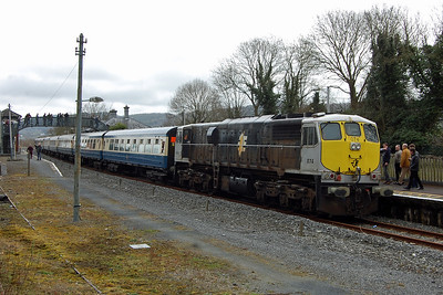 After a reversal at Waterford the tour headed west behind no. 074, which conveniently happened to be the only member of the '071' Class that I'd never travelled behind. The train is pictured here during a futher photo stop at Carrick-on-Suir (07/04/2018)