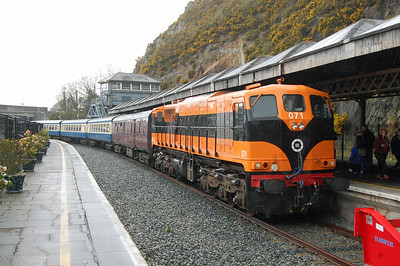 071 is pictured again on arrival at Waterford with H500 0845 from Connolly (07/04/2018)