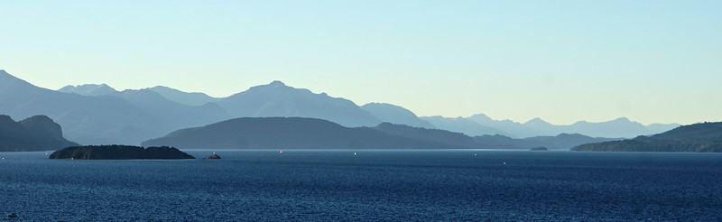 View off Lago Nahuel Huapi from our Bariloche apartment
