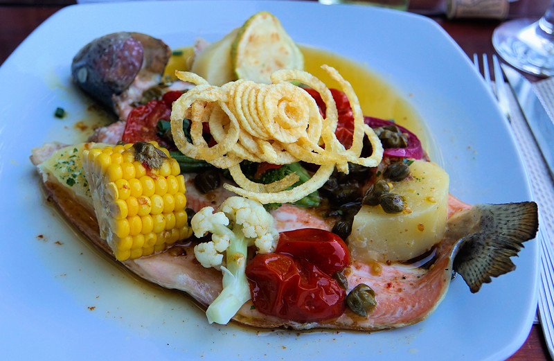Anne's trout entree at Manush