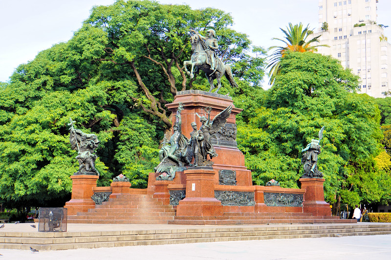 Monument in Plaza San Martin, Buenos Aires