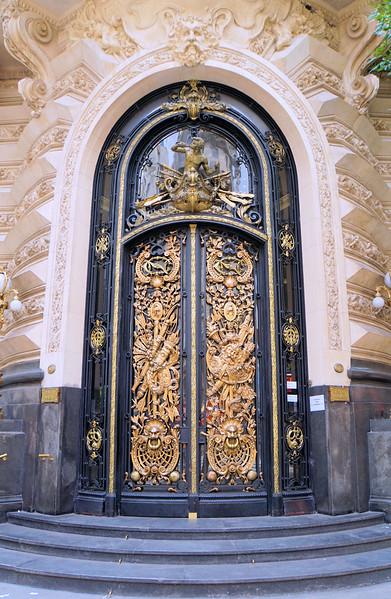 Door to government building on Avenida Florida