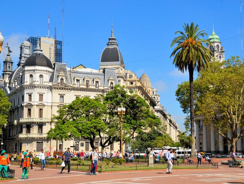 Buildings around Plaza de Mayo