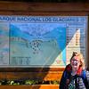Anne at Parque Nacional Los Glaciares