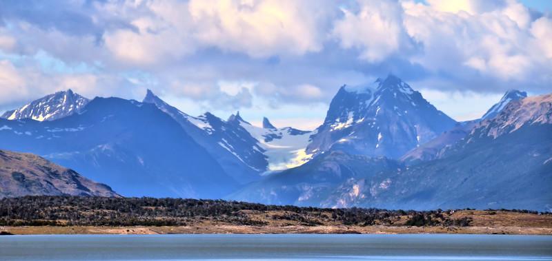 Landscape on the way to Perito Moreno