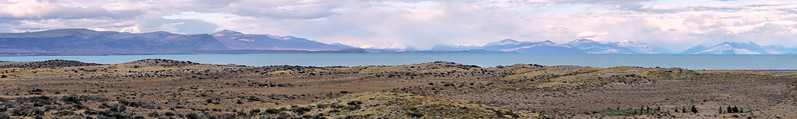 Landscape with Lago Argentino on the road to El Chaltén