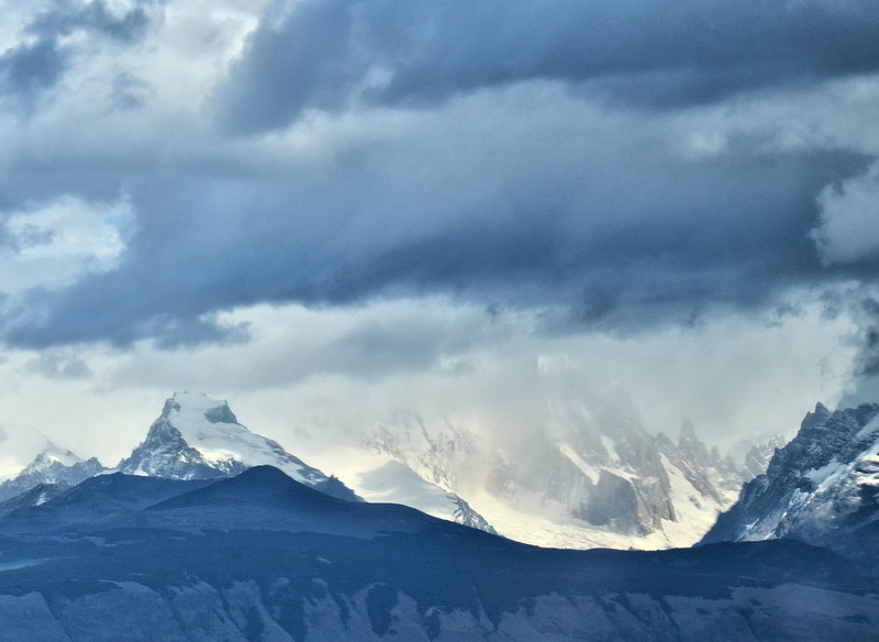 Cerro Torre behind the clouds