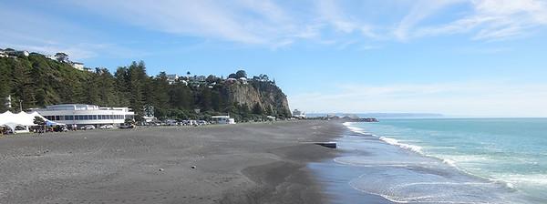 Some of Napier - coast view North
