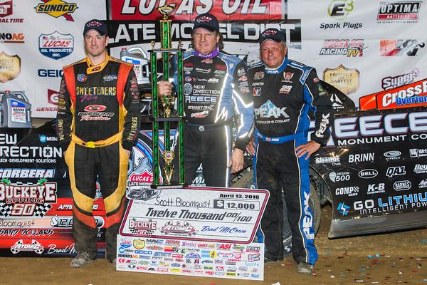 Tim McCreadie (L), Scott Bloomquist (C), Don O'Neal (R)