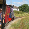 Riding behind Andrew Barclay 0-6-0 steam loco no. 4 'Doll' on the Leighton Buzzard Narrow Gauge Railway, 01.08.2018.