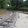 Track works taking place for the Leighton Buzzard Narrow Gauge Railway's northern extension from Stonehenge Works to Double Arches, 01.08.2018.