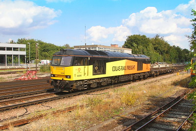 60095 Basingstoke 31/08/18 6Z95 March Whitemoor Yard to Eastleigh (off for a repaint into GBRf colours ?)