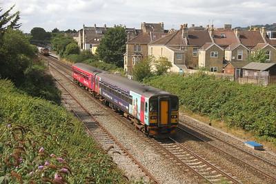 153333 Oldfield Park 17/08/18 9M98 Westbury to Great Malvern
