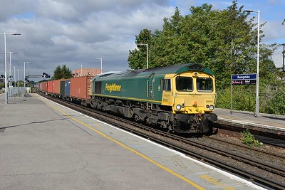 14 August 2018 :: 66951 is at Basingstoke wile working 4M55 from Southampton to Lawley Street