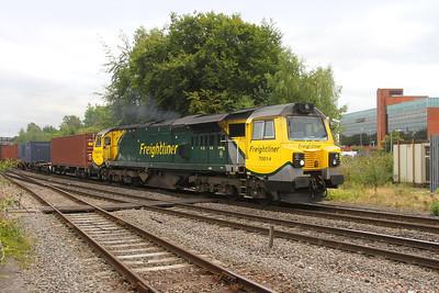 70014 Basingstoke 28/08/18 4Z18 Lawley Street to Southampton