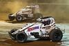 Capital Renegade Showdown - USAC National Sprint Car Championship - BAPS Motor Speedway - 98 Chad Boespflug, 52 Isaac Chapple
