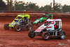 Capital Renegade Showdown - USAC National Sprint Car Championship - BAPS Motor Speedway - 0 Steve Buckwalter, 77 Alex Bright