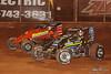 Capital Renegade Showdown - USAC National Sprint Car Championship - BAPS Motor Speedway - 5 Chris Windom,  36D Dave Darland