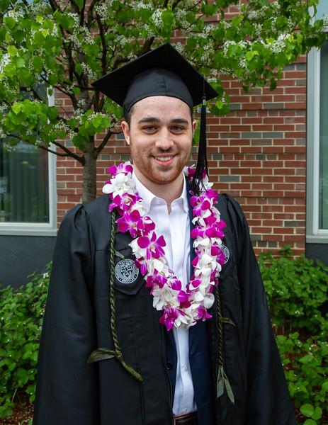 Benjamin in graduation gown