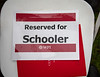 Seats reserved for Schooler