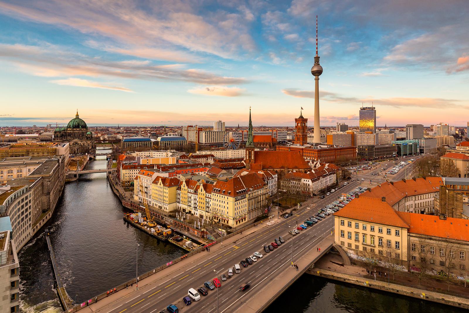 View of Berlin Mitte, Alexanderplatz and TV Tower