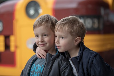 Sebastian (left) and Orlando (right) with Heritage Diesel- 4th Birthday (Central Station)