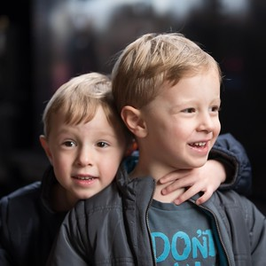 Sebastian (front) & Orlando (back) at Central Station - 4th Birthday