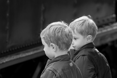"Sebastian (left) & Orlando (right) with ""The Garret"" Steam Locomotive - 4th Birthday (Central Station)"