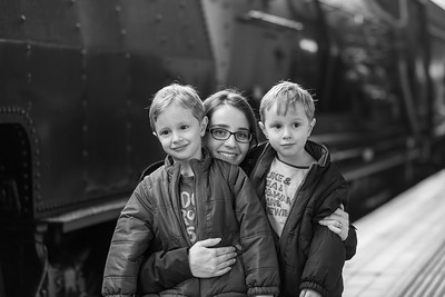 "Sebastian (right), Margaret & Orlando(left) with ""The Garret"" Steam Locomotive - 4th Birthday (Central Station)"