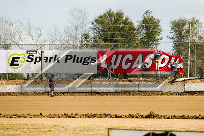 Lucas Oil Late Model Dirt Series catch fence banners