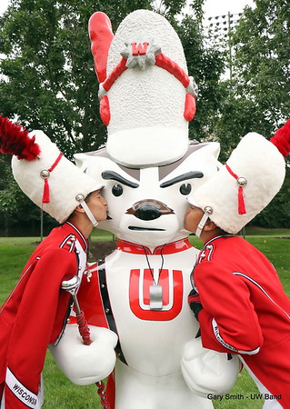 Bucky and Drum Majors