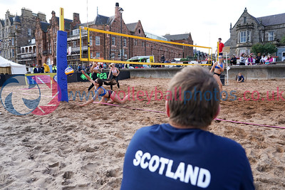 2018 CEV SCD Beach Volleyball Junior Finals, Portobello, Edinburgh, Sat 25th Aug 2018.  © Michael McConville. View more photos at:  https://www.volleyballphotos.co.uk/2018/CEV-FIVB/2018-08-25-SCD-Jnr-Beach-Finals