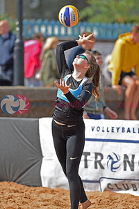 2018 CEV SCD Beach Volleyball Junior Finals, Portobello Beach, 25 August 2018.  © Lynne Marshall  https://www.volleyballphotos.co.uk/2018/CEV-FIVB/2018-08-25-SCD-Jnr-Beach-Finals
