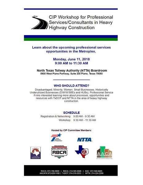 CIP Workshop for Professional Services/Consultants in Heavy Highway Construction 06 11 18