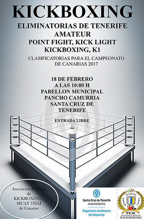 cartel eliminatorias de tenerife 2017