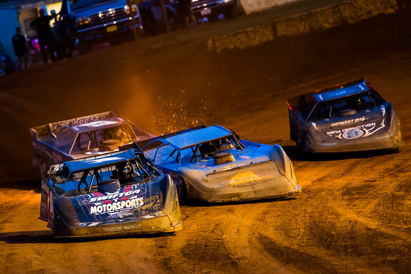 Brent Dixon (1), Dennis Erb, Jr. (28), Ross Bailes (87) and Scott Bloomquist (0)